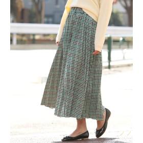 ViS(ビス)/【WEB限定】チェックジャガードプリーツスカート