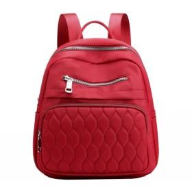 軽量ナイロンバックパック防水マルチレイヤショルダーバッグスクールバッグ (Color : Wine red, Size : 251130cm)