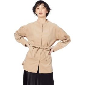 [スナイデル] スタンドカラータキシードシャツ SWFB194095 レディース BEG 日本 1 (日本サイズ9 号相当)