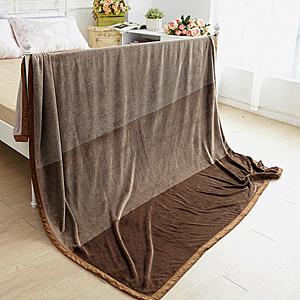 【BELLE VIE】特大尺寸超暖細柔包邊金貂法蘭絨毯200x230cm(曼特寧)