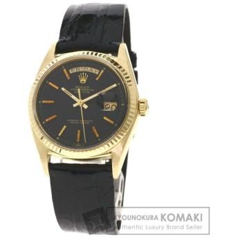 ROLEX  ロレックス 1803 デイデイト 腕時計  K18 イエローゴールド 革 メンズ  中古