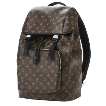ルイヴィトン(Louis Vuitton) リュックサック MONOGRAM MACASSAR ザック・バックパック M43422 ブラウン 茶/ブラック 黒