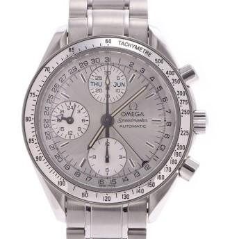 送料無料 OMEGA オメガ スピードマスター トリプルカレンダー 3523.30 メンズ SS 腕時計 自動巻き シルバー文字盤 Aランク 中古 銀蔵