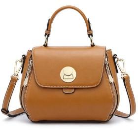 ALICESHOP 女の子サドルバッグトートバッグジョーカーショルダークロスボディバッグ (色 : Caramel colour)