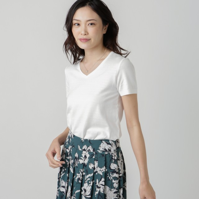 NEWYORKER(ニューヨーカー)/【オフシーズンセール】NY Basic/ペルーコットン おとなニットTシャツ(スーツインナー対応)