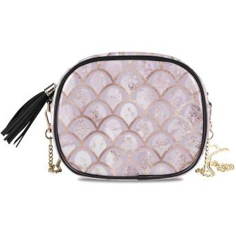 KAPANOU レディース チェーンバッグ,アールデコのシームレスパターンローズゴールド,ミニファッションかわいいデザインショルダーバッグパーソナライズされたカスタムの異なるスタイルの色