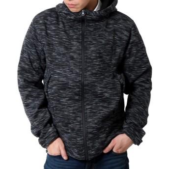 (リアルコンテンツ) マウンテンパーカー メンズ ジャケット 防風 ストレッチ 大きいサイズ マンパ アウター ジャンパー rcjk7377 (L, 杢チャコール)