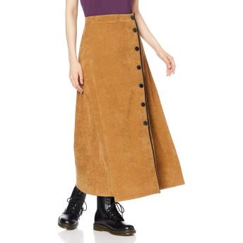 [ローズバッド] 0 コーデュロイパイピングスカート レディース ブラウン 日本-(Free サイズ)