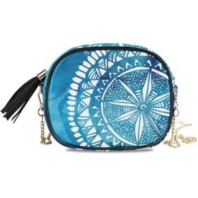 KAPANOU レディース チェーンバッグ,青い水彩ブラシ洗浄白い手,ミニファッションかわいいデザインショルダーバッグパーソナライズされたカスタムの異なるスタイルの色