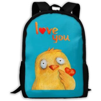 鶏 愛 心 リュックバック リュックナップザック バッグ ノートパソコン用のバッグ 大容量 バックパックチ キャンパス バックパック 大人のバックパック 旅行 ハイキングナップザック