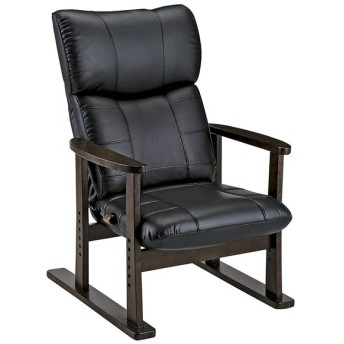 高座椅子大河ブラックYS-D1800HR_BK [カラー:BLACK]