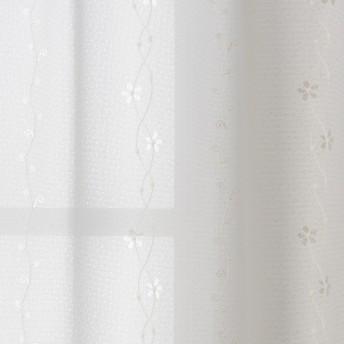 カーテンチアフル オーダーレースカーテン ビオラ アイボリー (形態安定加工付):幅100cm×丈105cm 2枚組