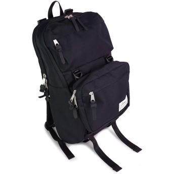 [class-5]リュックサック ポーチ付 メンズ 大容量 バックパック ポリエステル 軽量 ファッション アウトドア 旅行 お出掛け 21L おしゃれ かっこいい UtilityLine class-5 (ブラック)