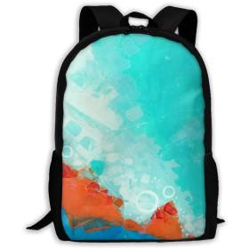 手描き リュックバック リュックナップザック バッグ ノートパソコン用のバッグ 大容量 バックパックチ キャンパス バックパック 大人のバックパック 旅行 ハイキングナップザック
