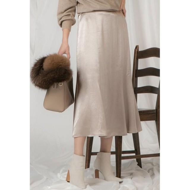VICKY / ヴィンテージサテンスカート