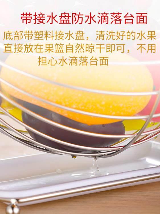 水果盤 創意水果籃客廳果盤瀝水籃水果收納籃搖擺不銹鋼糖果盤子現代歐式