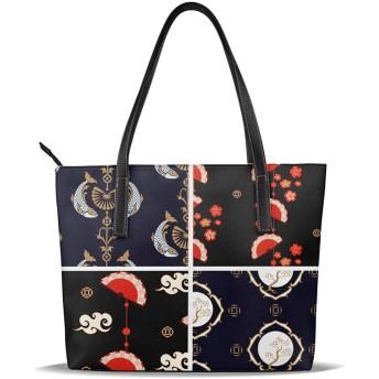 扇 鯉 松 和風 女性 スクールバッグ カジュアル ショッピング