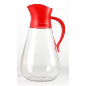 YJYD オリーブオイルディスペンサー、550ミリリットルオイル缶、オイルボトル、証拠、調味料入れ、キッチンツール、自動開閉油を漏らすことができます (Color : Red, Size : 19cm7cm)
