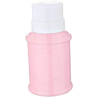 Toygogo 空のマニキュアリムーバーポンプディスペンサーアセトンプッシュダウンプレスボトル - ピンク