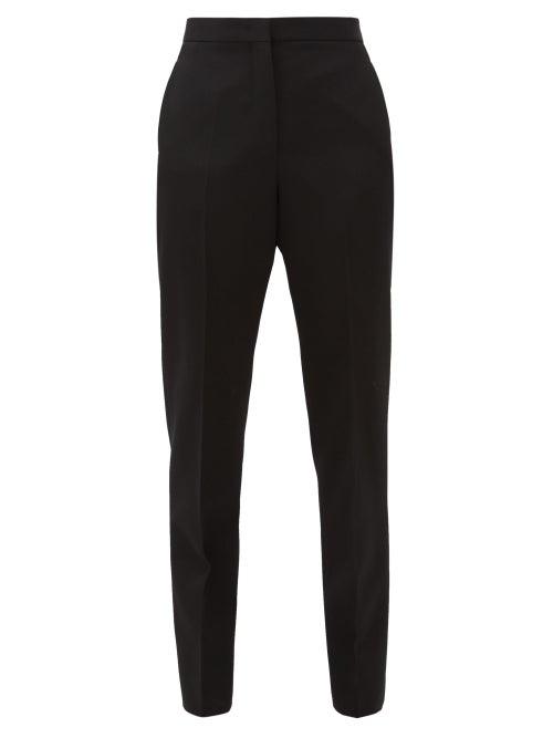 Jil Sander - Slim-leg Wool-crepe Trousers - Womens - Black
