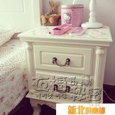 簡易白色歐式床頭櫃 簡約現代床頭收納櫃臥室整裝床邊小櫃子迷你HM