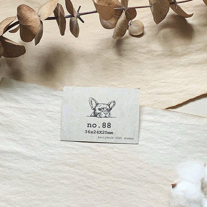 no.88 躲貓貓-法鬥 手繪復古印章