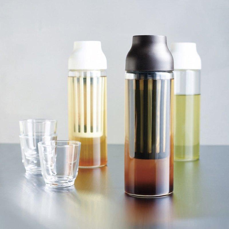 這是一個簡約樂活玻璃水瓶。無方向性的出口,可以輕易的從任何方向倒取飲品,