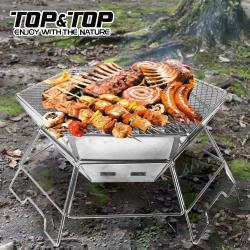 韓國TOP&TOP 不鏽鋼六角焚火台/烤肉爐/野炊/露營