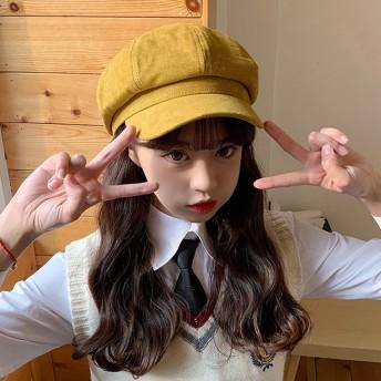 FOFU-貝雷帽多色純色貝柔軟保暖雷帽毛呢溫柔小清新【02U0977】