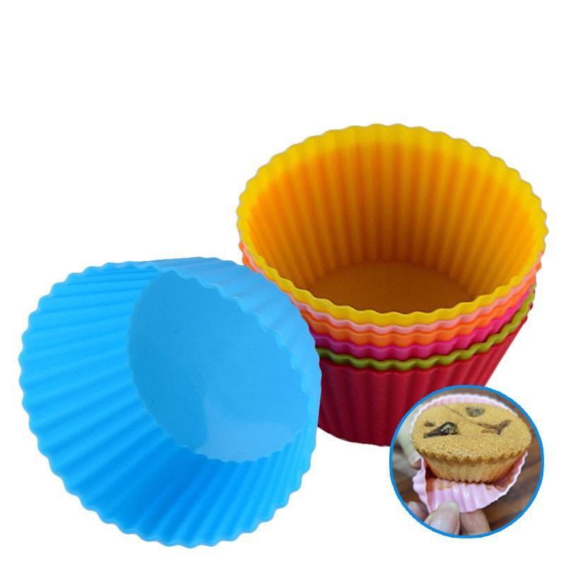食品級蛋糕杯 耐高溫矽膠馬芬杯 氣炸鍋配件 果凍模 冰淇淋杯 布丁模杯子 手工皂模 烘焙工具 安全無毒