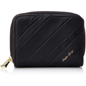 [レガートラルゴ] 二つ折り財布 LJ-E1172 カラーミックス カード収納6枚 ポケット4 ブラック
