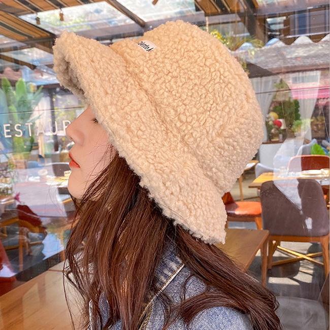 FOFU-衣(任選2件388)漁夫帽羊羔毛漁夫帽韓版保暖加厚可愛漁夫帽【02U0983】