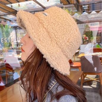 FOFU-漁夫帽羊羔毛漁夫帽韓版保暖加厚可愛漁夫帽【02U0983】