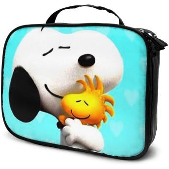 スヌーピー メイクボックス 化粧ポーチ 収納ケース メイクポーチ コスメティックバッグ 高品質 機能的 大容量 トラベルバッグ 化粧 バッグ 化粧道具 小物入れ 旅行用