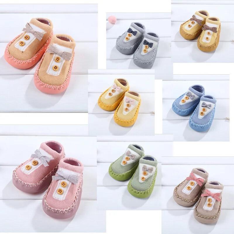 春夏款-地板襪男女寶寶全棉皮底嬰幼兒學布鞋