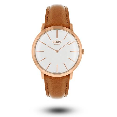 HENRY LONDON 英國設計師品牌復古手錶 - 白面 / 玫瑰金指針 / 玫瑰金刻度