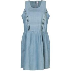 《セール開催中》SCEE by TWINSET レディース ミニワンピース&ドレス ブルー XL コットン 100%