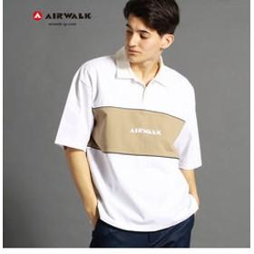 【NICOLE:トップス】【WEB別注】AIRWALKコラボ切り替えポロシャツ