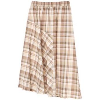 【E hyphen world gallery:スカート】・マドラスチェック切替スカート
