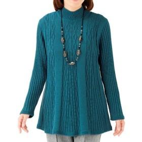 ケーブル使いチュニックセーター