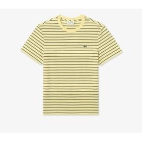【LACOSTE:トップス】チョークボーダークルーネックTシャツ