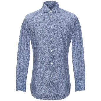 《セール開催中》VINCENZO DI RUGGIERO Napoli メンズ シャツ ブルー 39 コットン 100%