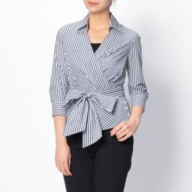 [マルイ]【セール】ロンドンストライプカシュクールシャツ/ナラカミーチェ(NARACAMICIE)