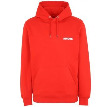 《セール開催中》PALETTE COLORFUL GOODS メンズ スウェットシャツ レッド S オーガニックコットン 85% / リサイクルポリエステル 15% AMOUR