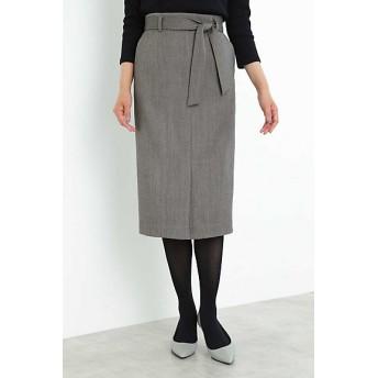 【SALE(三越)】<BOSCH> ベルト付ヘリンボーンタイトスカート(0219220901) ブラック【三越・伊勢丹/公式】