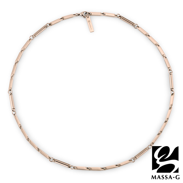 MASSA-G  Simple純粹 磁石能量項鍊 玫瑰金