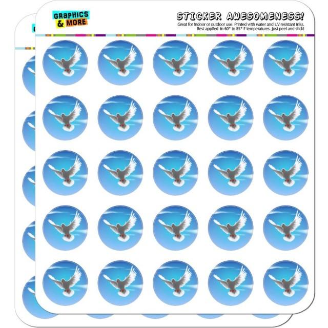 空に飛ぶ鳩の鳥 1プラナーカレンダースクラップブック製作不透明ステッカー