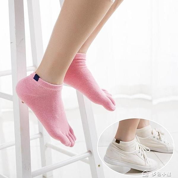 五指襪四季女士純棉五指襪貼標純色春秋潮女五趾襪全棉吸汗