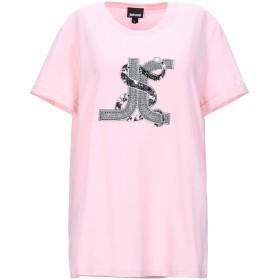 《セール開催中》JUST CAVALLI レディース T シャツ ピンク S コットン 100% / ポリエステル