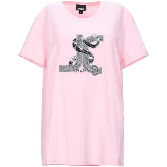 《セール開催中》JUST CAVALLI レディース T シャツ ピンク XS コットン 100% / ポリエステル